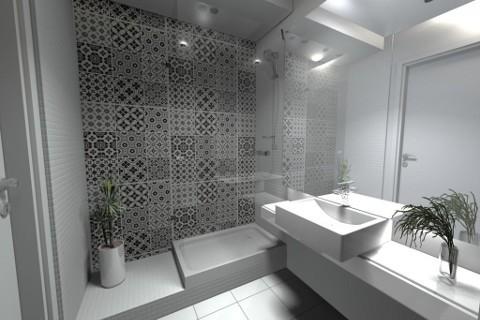 Projekt łazienki, 3,9 m²