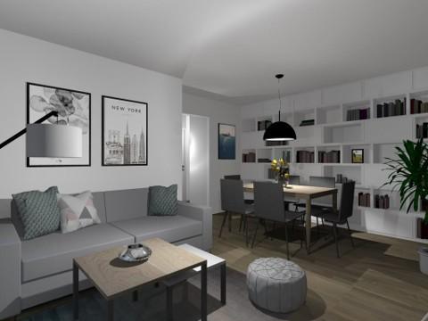 Projekt mieszkania na Woli, 46 m²