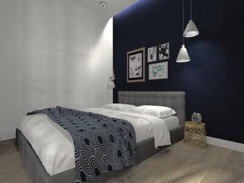 Projekt mieszkania na Ursynowie, 37m²