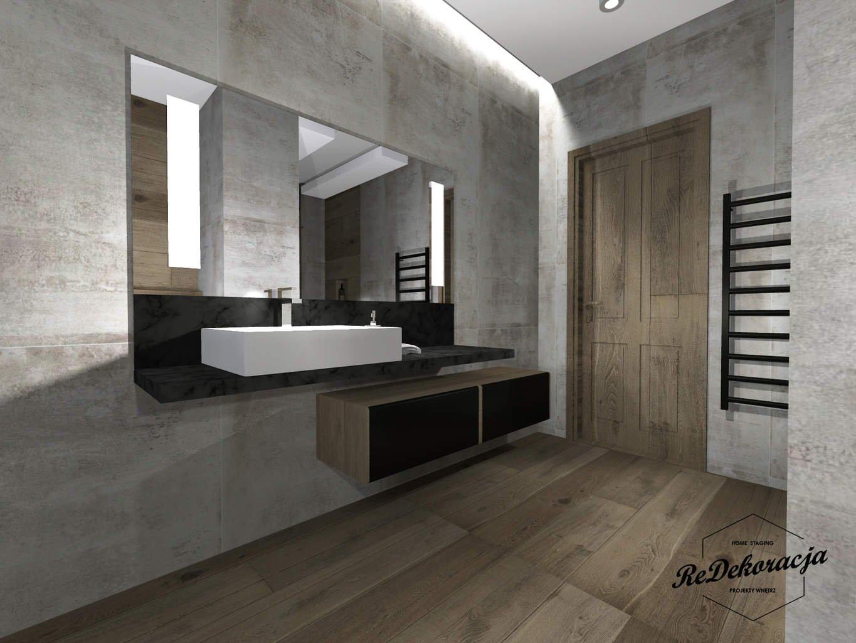 Projekt łazienki przy sypialni, 10 m2 – wersja 1.